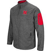 Colosseum Men's Nebraska Cornhuskers Grey Anchor Full-Zip Jacket