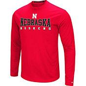 Colosseum Women's Nebraska Cornhuskers Red Streamer Long Sleeve T-Shirt