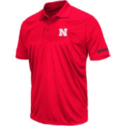 Colosseum Men's Nebraska Cornhuskers Red Performance Polo