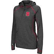 Colosseum Women's NC State Wolfpack Charcoal Capo Ferro Quarter-Zip Hooded Windshirt