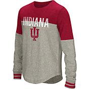 Colosseum Girls' Indiana Hoosiers Grey Baton Long Sleeve T-Shirt