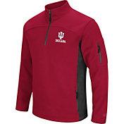 Colosseum Men's Indiana Hoosiers Crimson Advantage Quarter-Zip Jacket