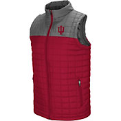 Colosseum Men's Indiana Hoosiers Crimson/Grey Amplitude Puff Vest