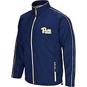 Colosseum Men's Pitt Panthers Blue Barrier Full Zip Wind Jacket