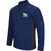 Colosseum Men's Pitt Panthers Blue Advantage Quarter-Zip Jacket