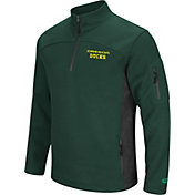 Colosseum Men's Oregon Ducks Green Advantage Quarter-Zip Jacket