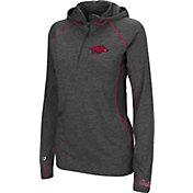 Colosseum Women's Arkansas Razorbacks Charcoal Capo Ferro Quarter-Zip Hooded Windshirt