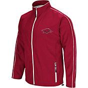 Colosseum Men's Arkansas Razorbacks Cardinal Barrier Full Zip Wind Jacket