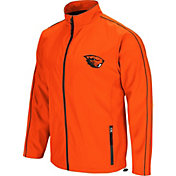Colosseum Men's Oregon State Beavers Orange Barrier Full Zip Wind Jacket