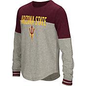 Colosseum Girls' Arizona State Sun Devils Grey Baton Long Sleeve T-Shirt