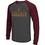 Colosseum Men's Arizona State Sun Devils Grey Olympus II Long Sleeve Shirt