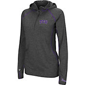 Colosseum Women's TCU Horned Frogs Charcoal Capo Ferro Quarter-Zip Hooded Windshirt