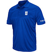 Colosseum Athletics Men's Tulsa Golden Hurricane Blue Performance Polo