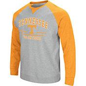 Colosseum Men's Tennessee Volunteers Gray Turf Fleece Crew Neck Sweatshirt