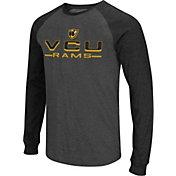 Colosseum Men's VCU Rams Grey Olympus II Long Sleeve Shirt