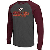 Colosseum Men's Virginia Tech Hokies Grey Olympus II Long Sleeve Shirt