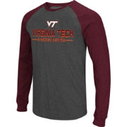 Colosseum Men's Virginia Tech Hokies Grey Olympus II Long Sleeve Shirt