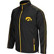 Colosseum Men's Iowa Hawkeyes Black Barrier Full Zip Wind Jacket