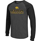 Colosseum Men's Iowa Hawkeyes Grey Olympus II Long Sleeve Shirt