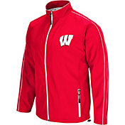 Colosseum Men's Wisconsin Badgers Red Barrier Full Zip Wind Jacket