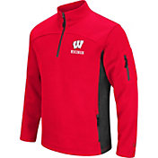 Colosseum Men's Wisconsin Badgers Red Advantage Quarter-Zip Jacket