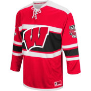 Colosseum Men's Wisconsin Badgers Red Open Net Hockey Jersey
