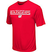 Colosseum Athletics Men's Wisconsin Badgers Red T-Shirt