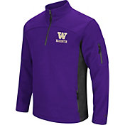 Colosseum Men's Washington Huskies Purple Advantage Quarter-Zip Jacket