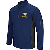 Colosseum Men's West Virginia Mountaineers Blue Advantage Quarter-Zip Jacket