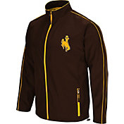 Colosseum Men's Wyoming Cowboys Brown Barrier Full Zip Wind Jacket