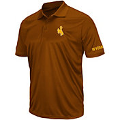 Colosseum Athletics Men's Wyoming Cowboys Brown Performance Polo