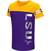 Colosseum Athletics Toddler Girls' LSU Tigers Purple Cricket T-Shirt