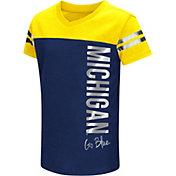 Colosseum Athletics Toddler Girls' Michigan Wolverines Blue Cricket T-Shirt