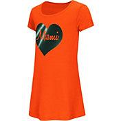 Colosseum Toddler Girls' Miami Hurricanes Orange Croquet Dress