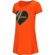 Colosseum Toddler Girls' Miami Hurricanes Orange Croquet Dress