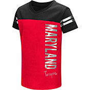 Colosseum Toddler Girls' Maryland Terrapins Red Cricket T-Shirt
