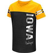 Colosseum Athletics Toddler Girls' Iowa Hawkeyes Black Cricket T-Shirt