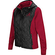 Colosseum Women's Alabama Crimson Tide Black/Crimson Six Fingers Full-Zip Jacket