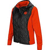 Colosseum Women's Clemson Tigers Black/Orange Six Fingers Full-Zip Jacket