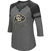 Colosseum Women's Colorado Buffaloes Grey Three-Quarter Sleeve Tri-Blend T-Shirt
