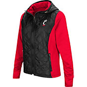 Colosseum Women's Cincinnati Bearcats Black/Red Six Fingers Full-Zip Jacket