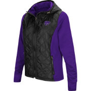 Colosseum Women's Kansas State Wildcats Black/Purple Six Fingers Full-Zip Jacket