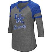 Colosseum Women's Kentucky Wildcats Grey Three-Quarter Sleeve Tri-Blend T-Shirt