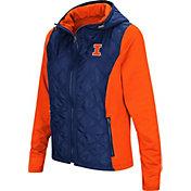 Colosseum Women's Illinois Fighting Illini Blue/Orange Six Fingers Full-Zip Jacket