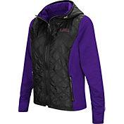 Colosseum Women's LSU Tigers Black/Purple Six Fingers Full-Zip Jacket