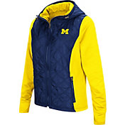 Colosseum Women's Michigan Wolverines Blue/Maize Six Fingers Full-Zip Jacket