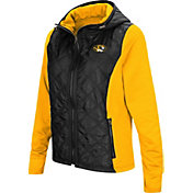 Colosseum Women's Missouri Tigers Black/Gold Six Fingers Full-Zip Jacket