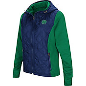 Colosseum Women's Notre Dame Fighting Irish Navy/Green Six Fingers Full-Zip Jacket
