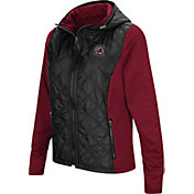 Colosseum Women's South Carolina Gamecocks Black/Garnet Six Fingers Full-Zip Jacket