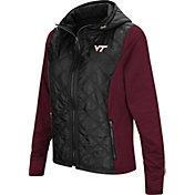 Colosseum Women's Virginia Tech Hokies Black/Maroon Six Fingers Full-Zip Jacket